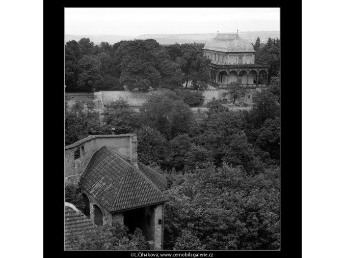 Královský letohrádek z Černé věže (911), Praha 1960 , černobílý obraz, stará fotografie, prodej
