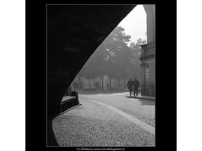 Odpoledne na Kampě (915), Praha 1960 září, černobílý obraz, stará fotografie, prodej