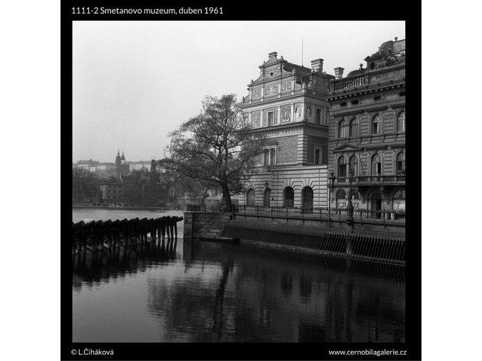 Smetanovo muzeum (1111-2), Praha 1961 duben, černobílý obraz, stará fotografie, prodej