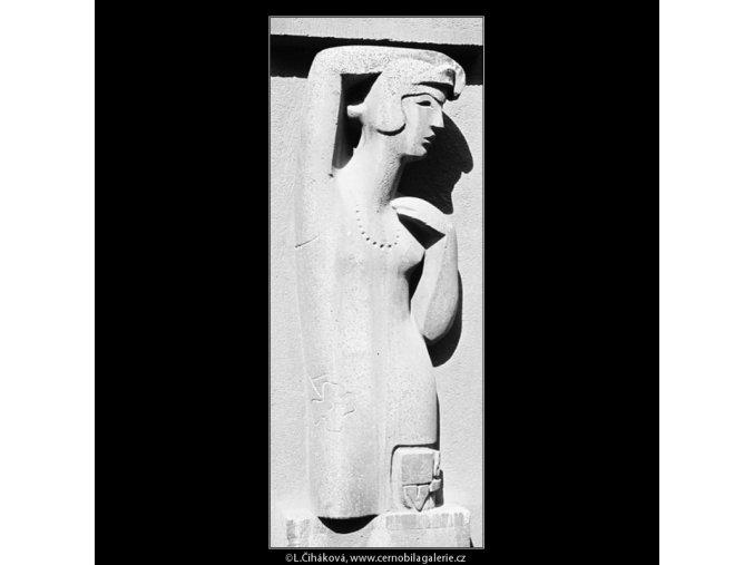 Reliéf (3969), Praha 1965 září, černobílý obraz, stará fotografie, prodej