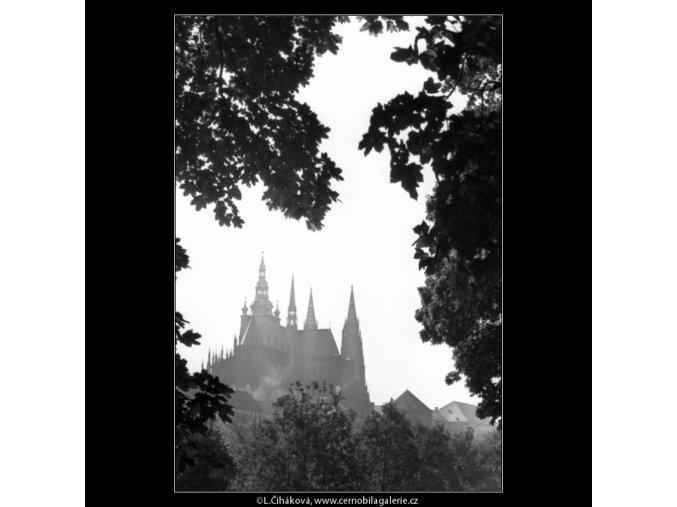 Chrám sv.Víta (1360), Praha 1961 léto, černobílý obraz, stará fotografie, prodej