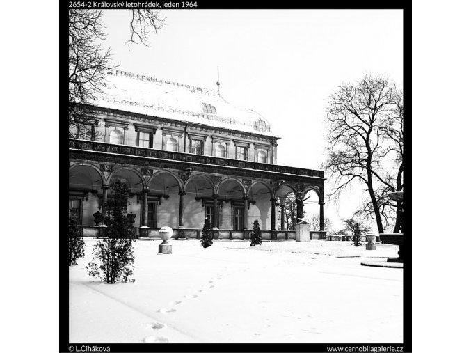 Královský letohrádek (2654-2), Praha 1964 leden, černobílý obraz, stará fotografie, prodej