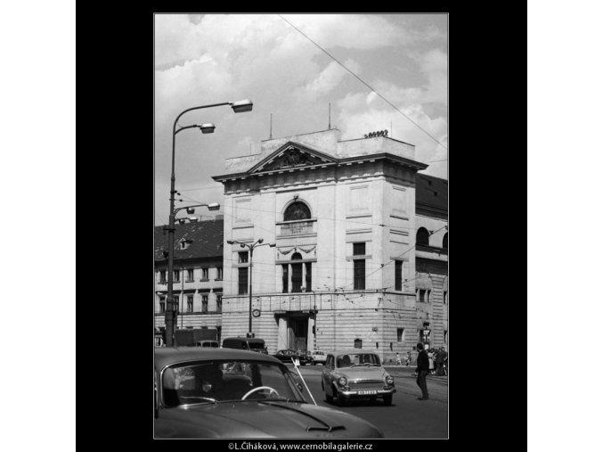 Odpoledne U Hybernů (3054), Praha 1964 červenec, černobílý obraz, stará fotografie, prodej