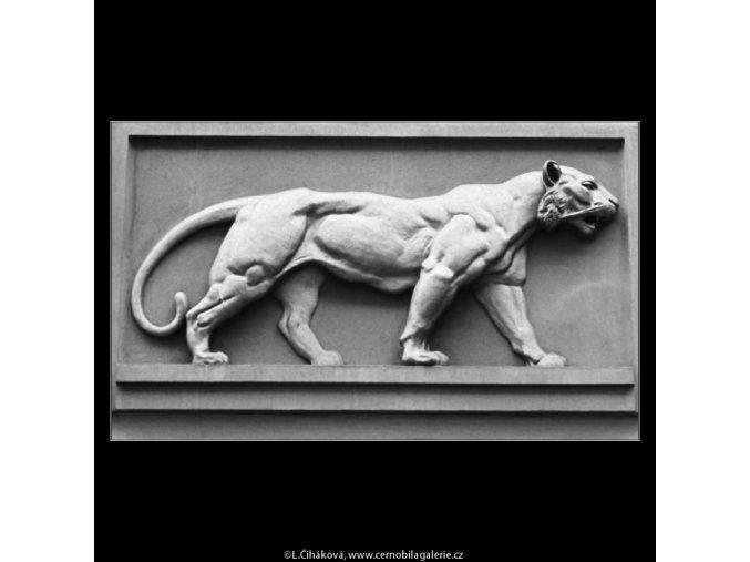 U Zlatého tygra (3177), Praha 1964 září, černobílý obraz, stará fotografie, prodej