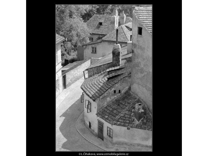 Pohled do Nového světa (5399-2), Praha 1967 červen, černobílý obraz, stará fotografie, prodej