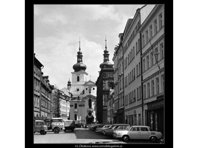 Kostel sv.Havla (5985), Praha 1968 červenec, černobílý obraz, stará fotografie, prodej
