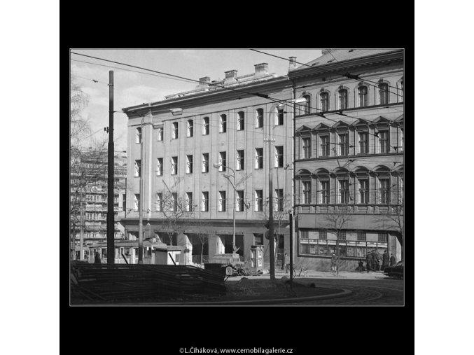 Domy před zbouráním či rekonstrukcí (5196-4), Praha 1967 březen, černobílý obraz, stará fotografie, prodej