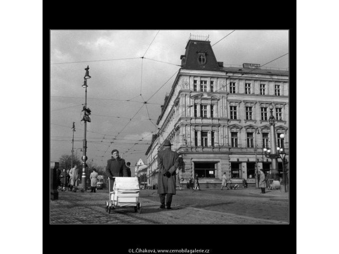 Odpoledne na nábřeží (76), žánry - Praha 1958 , černobílý obraz, stará fotografie, prodej