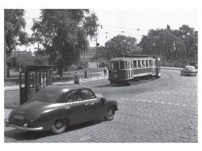 100167 I Pohlednice - Křižovatka na Klárově, Praha 1959