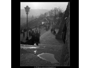 Nedělní odpoledne na Letné (1066), žánry - Praha 1961 únor, černobílý obraz, stará fotografie, prodej