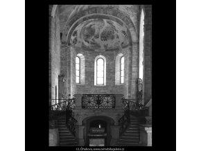 Kostel sv.Jiří  (5299-3), Praha 1967 květen, černobílý obraz, stará fotografie, prodej