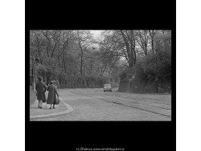 Chotkova silnice (5245-1), Praha 1967 duben, černobílý obraz, stará fotografie, prodej