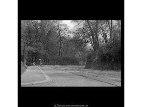 Chotkova silnice (5245-3), Praha 1967 duben, černobílý obraz, stará fotografie, prodej