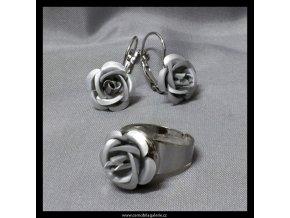 Souprava Růže šedá