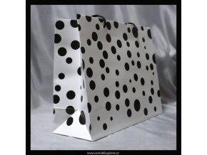 Taška d. Černobílá puntík XL