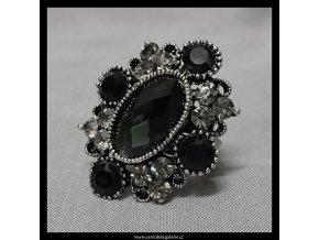 Prsten Ovál černý