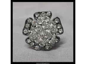 Prsten Květina patina