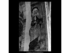 Z baziliky sv.Jiří (5310), Praha 1967 květen, černobílý obraz, stará fotografie, prodej