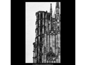 Katedrála sv.Víta (5337), Praha 1967 květen, černobílý obraz, stará fotografie, prodej