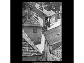 Pohled do Nového světa (5399-1), Praha 1967 červen, černobílý obraz, stará fotografie, prodej