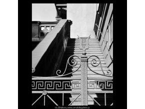 Mříže Tylova divadla (5468-3), Praha 1967 srpen, černobílý obraz, stará fotografie, prodej