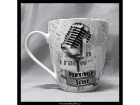 11554 hrnek vintage mikrofon
