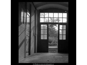 Dveře na dvůr (5538), žánry - Praha 1967 srpen, černobílý obraz, stará fotografie, prodej