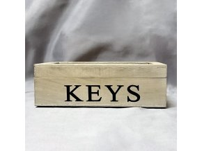 401004 I Dřevěná krabička na klíče