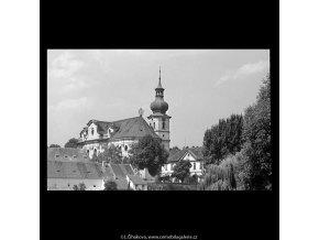 Břevnovský klášter (5520), Praha 1967 srpen, černobílý obraz, stará fotografie, prodej
