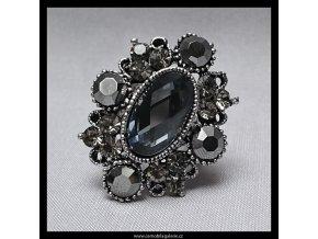 Prsten Ovál šedý
