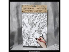 12010 omalovanky antistresove motyli a ptaci