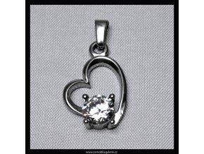 Přívěsek Srdce crystal
