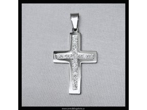 Přívěsek Kříž pískovaný