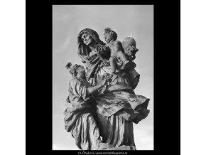 Sv.Anna (5656-3), Praha 1967 říjen, černobílý obraz, stará fotografie, prodej