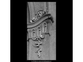 Ozdoba portálu (5641-2), Praha 1967 říjen, černobílý obraz, stará fotografie, prodej