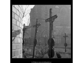 Hřbitov Vyšehrad (160-2), Praha 1959 , černobílý obraz, stará fotografie, prodej