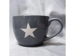 Hrnek Jumbo hvězda v šedé