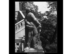 Barokní plastika (165-5), Praha 1959 červen, černobílý obraz, stará fotografie, prodej