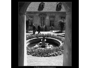 Pálfyovská zahrada (166-6), Praha 1959 červen, černobílý obraz, stará fotografie, prodej
