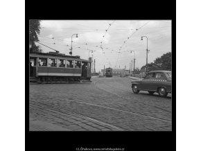 Klárov (225), Praha 1959 srpen, černobílý obraz, stará fotografie, prodej