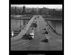 Švermův most (258), Praha 1959 září, černobílý obraz, stará fotografie, prodej