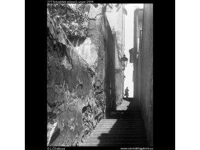 Schodiště milenců (277), Praha 1959 srpen, černobílý obraz, stará fotografie, prodej