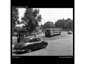 Na Klárově (357-1), Praha 1959 , černobílý obraz, stará fotografie, prodej