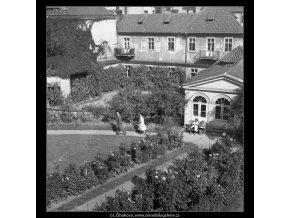 Část Vrtbovské zahrady (384-4), Praha 1959 , černobílý obraz, stará fotografie, prodej