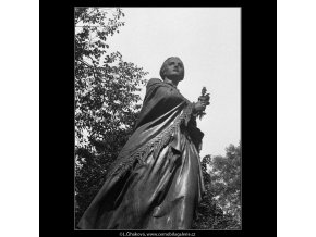 Pomník B.Němcové (398-1), Praha 1959 , černobílý obraz, stará fotografie, prodej