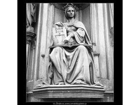 Pomník Karla IV (557-1), Praha 1959 , černobílý obraz, stará fotografie, prodej