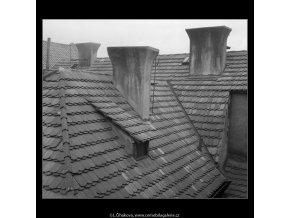 Střechy a komíny (746), Praha 1959 , černobílý obraz, stará fotografie, prodej