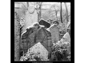 Ze židovského hřbitova (608-12), Praha 1960 květen, černobílý obraz, stará fotografie, prodej