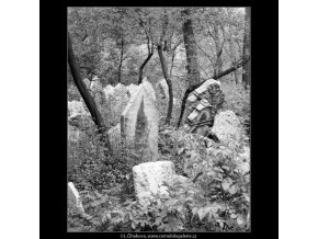 Ze židovského hřbitova (608-17), Praha 1960 květen, černobílý obraz, stará fotografie, prodej