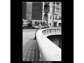 Jiráskův most (639-1), Praha 1960 červen, černobílý obraz, stará fotografie, prodej